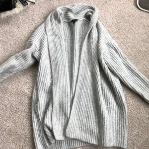 JCrew Gray soft shawl collar cardigan. Size S/M